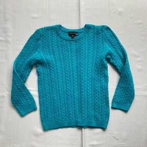 Lord & Taylor Cable Knit Crewneck Sweater